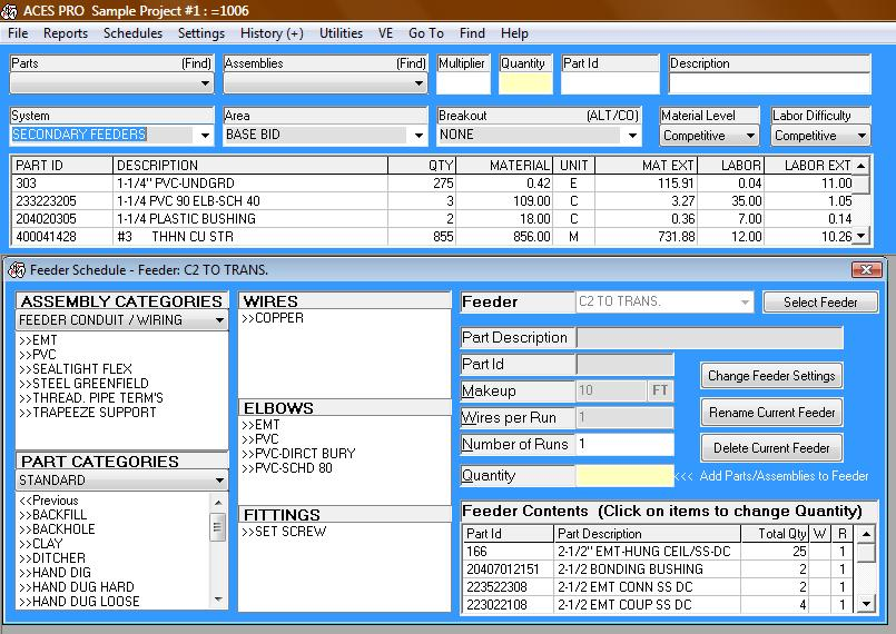 Electrical Estimating Software | ACES Pro $49.95 Subscription